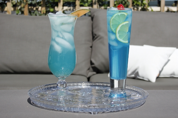 Blue curacao cocktails