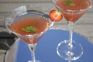 Gin Strawberry Basil Martini