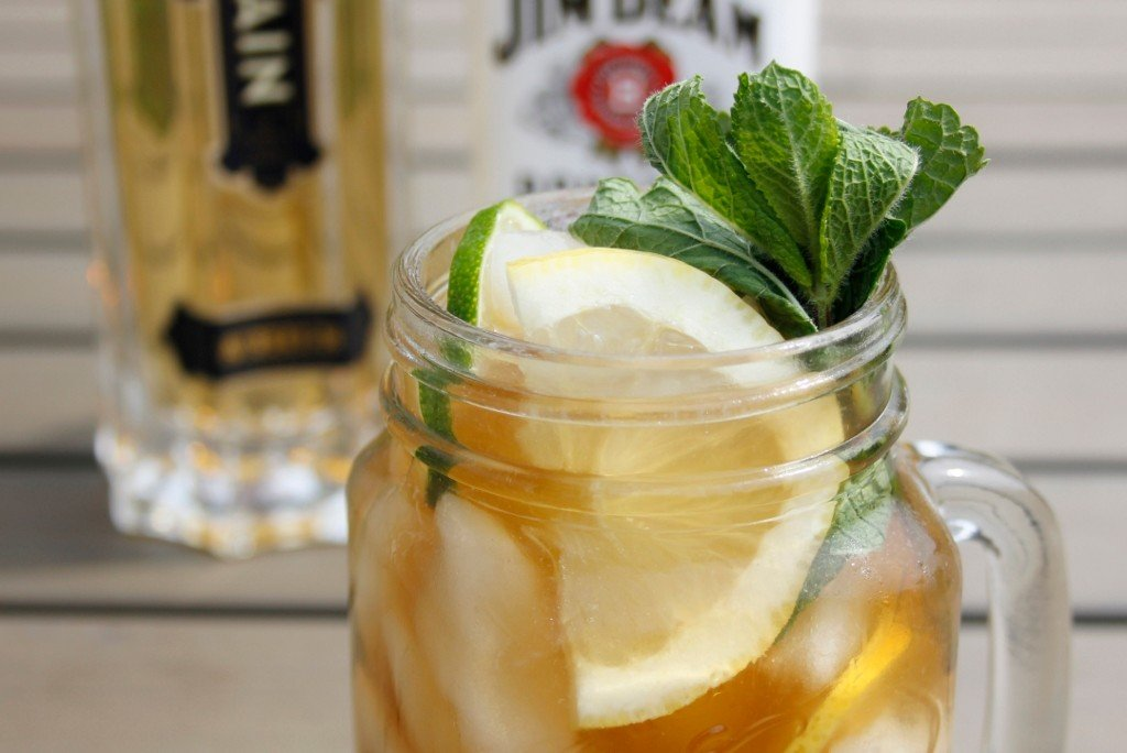 Elderflower Whiskey Ice Tea