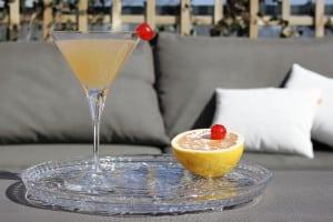 Pomelo Cherry Martini