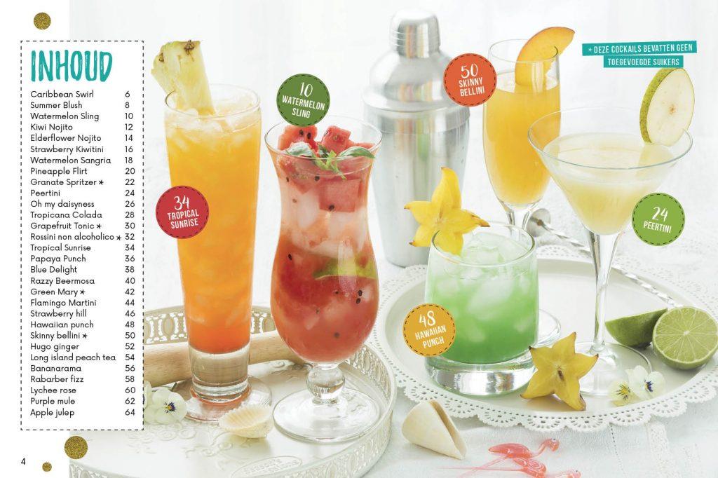 Alcoholvrije cocktails inhoudsopgave