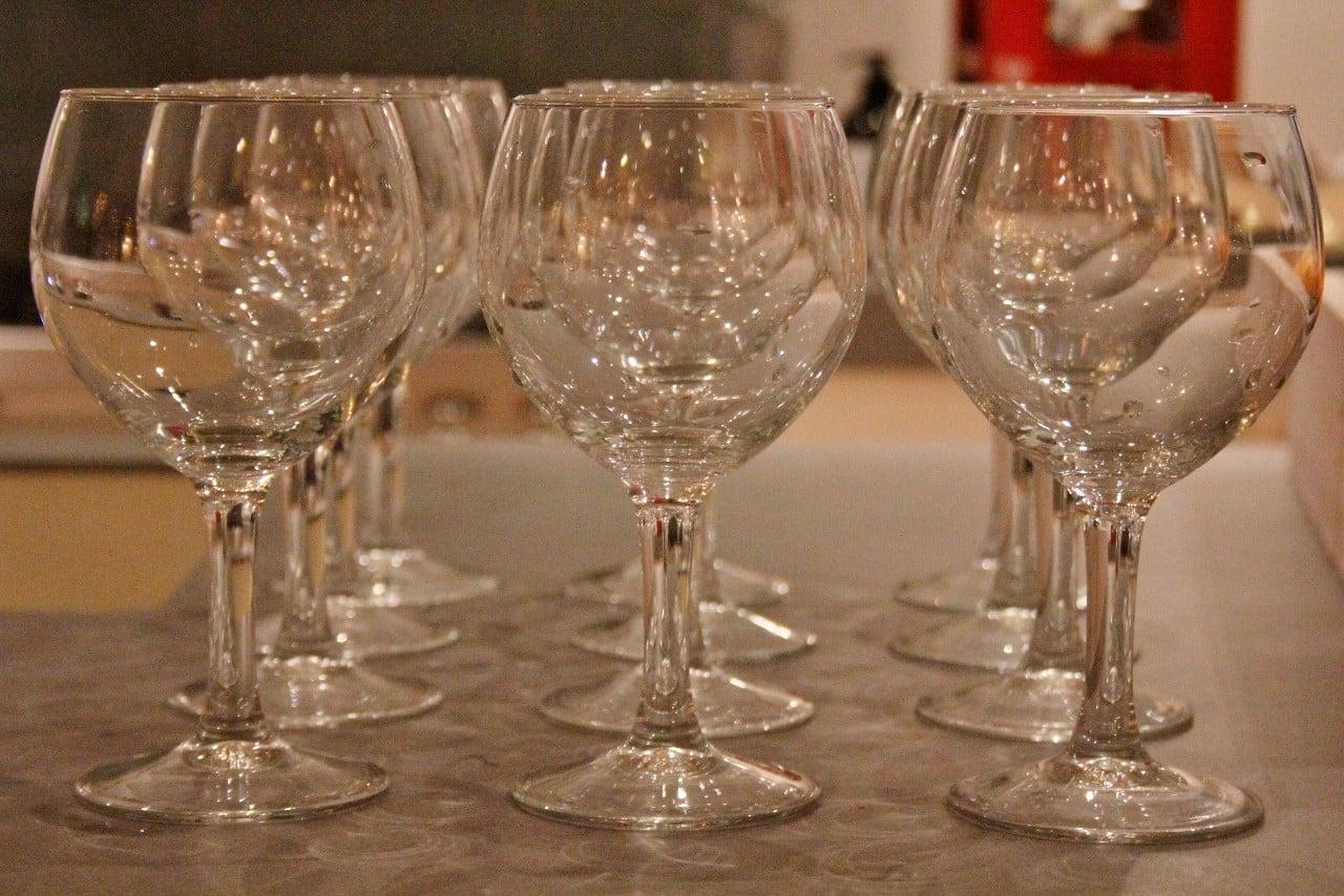 Gin tonic bar glazen
