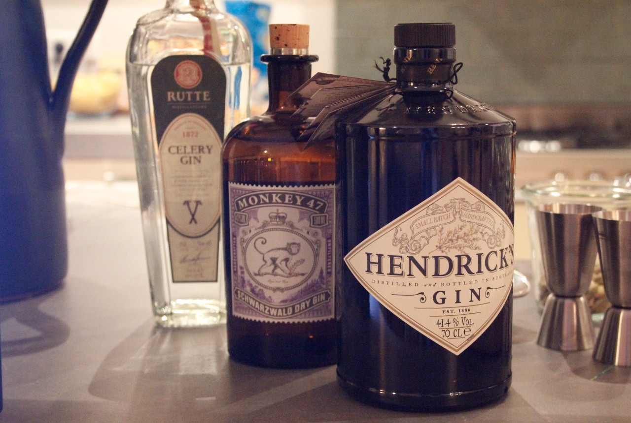 Gin Tonic Bar line up gins