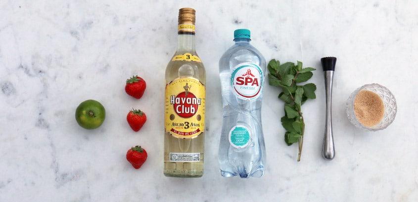 strawberry mojito ingredienten