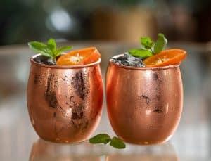 Mandarine mule cocktail