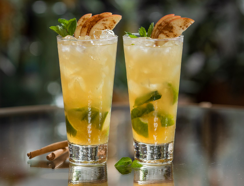 apple pie mojito cocktail