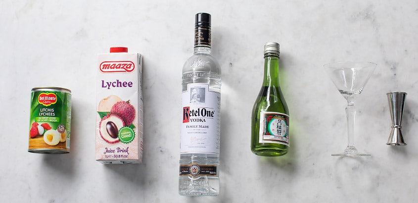 Lychee Martini ingredienten